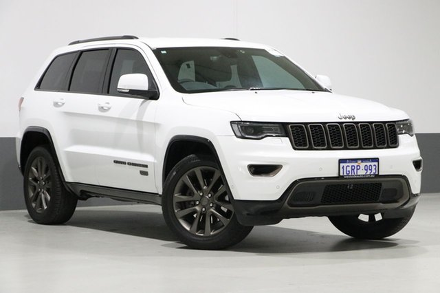 Used Jeep Grand Cherokee WK MY16 75TH Anniversary (4x4), 2016 Jeep Grand Cherokee WK MY16 75TH Anniversary (4x4) White 8 Speed Automatic Wagon