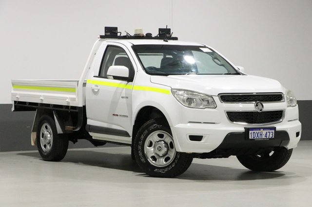 Used Holden Colorado RG LX (4x4), 2012 Holden Colorado RG LX (4x4) White 6 Speed Automatic Cab Chassis