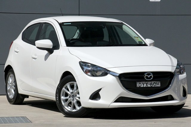 Demo Mazda 2 DJ2HAA Maxx SKYACTIV-Drive, 2018 Mazda 2 DJ2HAA Maxx SKYACTIV-Drive Snowflake White 6 Speed Sports Automatic Hatchback