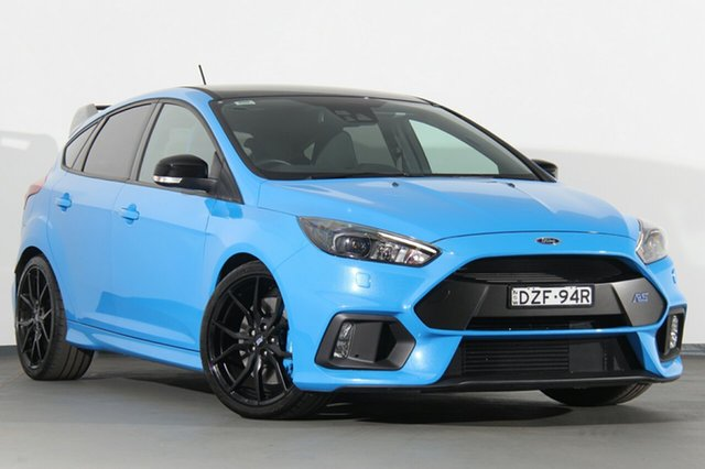 Used Ford Focus LZ RS AWD Limited Edition, 2017 Ford Focus LZ RS AWD Limited Edition Nitrous Blue 6 Speed Manual Hatchback