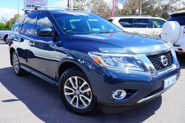Used Nissan Pathfinder R52 MY14 ST X-tronic 2WD, 2013 Nissan Pathfinder R52 MY14 ST X-tronic 2WD Blue 1 Speed Constant Variable Wagon