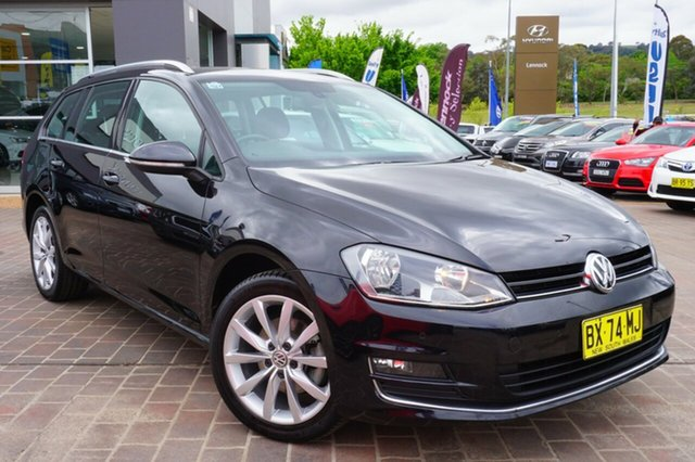 Used Volkswagen Golf VII MY14 110TDI DSG Highline, 2014 Volkswagen Golf VII MY14 110TDI DSG Highline Black 6 Speed Sports Automatic Dual Clutch Wagon
