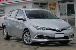 2017 Toyota Corolla ZRE182R Ascent Sport S-CVT Pearl Silver 7 Speed Constant Variable Hatchback.