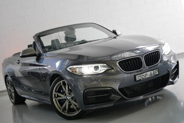 Used BMW M235i F23 , 2015 BMW M235i F23 Grey 8 Speed Sports Automatic Convertible