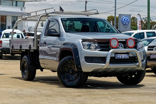 Used Volkswagen Amarok 2H MY16 TDI420 4Motion Perm, 2016 Volkswagen Amarok 2H MY16 TDI420 4Motion Perm Billet Silver 8 Speed Automatic Cab Chassis