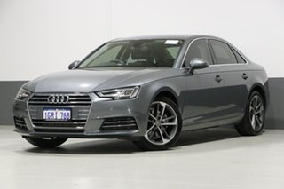 2017 Audi A4 F4 MY17 (B9) 2.0 TFSI S Tronic Sport Monsoon Grey 7 Speed Auto Dual Clutch Sedan.