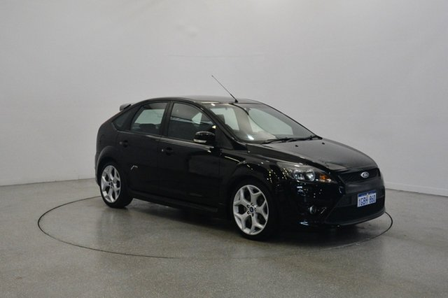 Used Ford Focus LV Mk II XR5 Turbo, 2010 Ford Focus LV Mk II XR5 Turbo Black 6 Speed Manual Hatchback