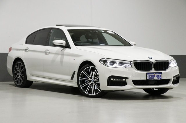 Used BMW 530i G30 MY18 M Sport, 2018 BMW 530i G30 MY18 M Sport Alpine White 8 Speed Automatic Sedan
