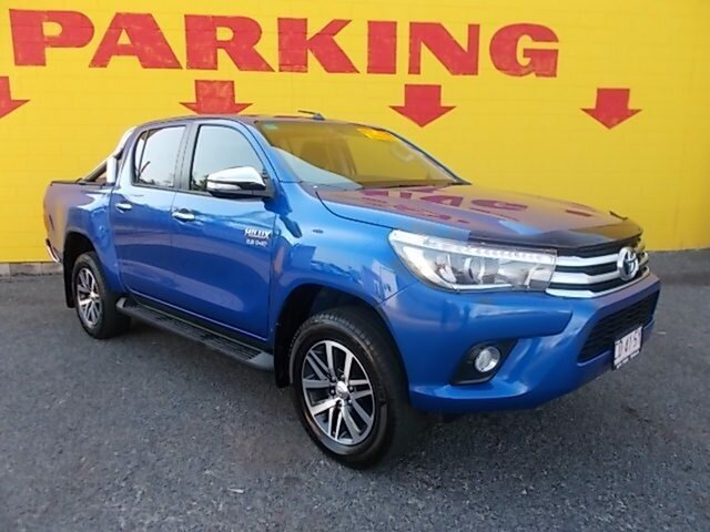 Used Toyota Hilux GUN126R SR5 Double Cab, 2016 Toyota Hilux GUN126R SR5 Double Cab Blue 6 Speed Manual Utility