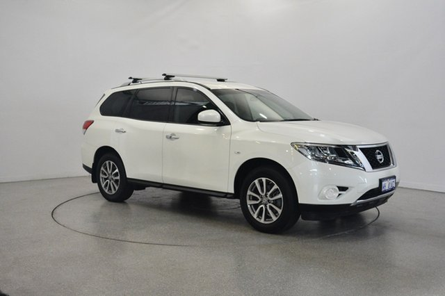 Used Nissan Pathfinder R52 MY15 ST X-tronic 2WD, 2015 Nissan Pathfinder R52 MY15 ST X-tronic 2WD White 1 Speed Constant Variable Wagon