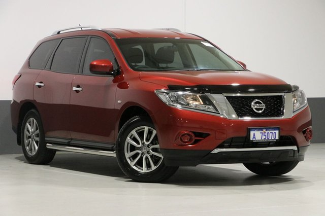 Used Nissan Pathfinder R52 MY15 ST (4x4), 2016 Nissan Pathfinder R52 MY15 ST (4x4) Red Continuous Variable Wagon