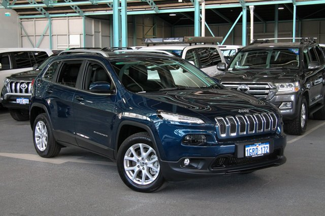 Used Jeep Cherokee KL MY19 Longitude, 2018 Jeep Cherokee KL MY19 Longitude Blue 9 Speed Sports Automatic Wagon