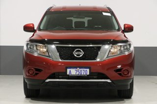2016 Nissan Pathfinder R52 MY15 ST (4x4) Red Continuous Variable Wagon.