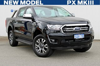 2018 Ford Ranger PX MKIII 2019.0 XLT Pick-up Double Cab Shadow Black 6 Speed Sports Automatic.