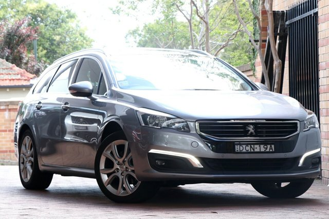 Used Peugeot 508 MY15 Allure Touring, 2015 Peugeot 508 MY15 Allure Touring Artense Grey 6 Speed Sports Automatic Wagon