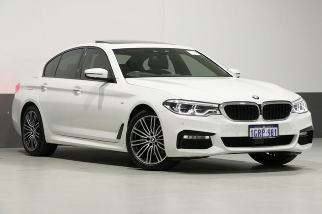 Used BMW 530i G30 MY17 M Sport, 2017 BMW 530i G30 MY17 M Sport White 8 Speed Automatic Sedan