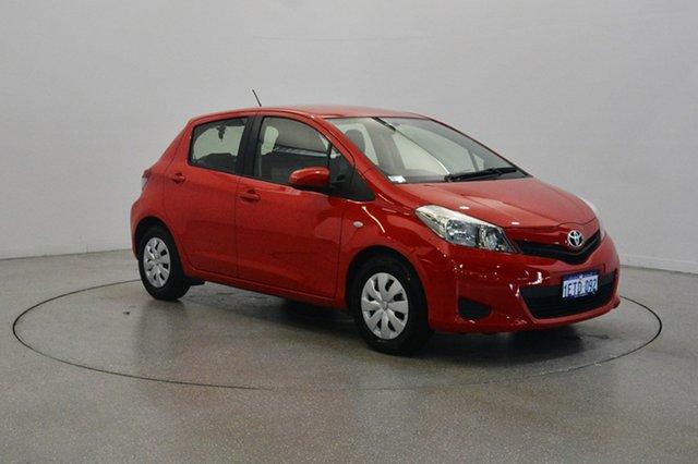 Used Toyota Yaris NCP130R YR, 2012 Toyota Yaris NCP130R YR Red 4 Speed Automatic Hatchback