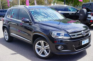 2015 Volkswagen Tiguan 5N MY15 155TSI DSG 4MOTION R-Line Black 7 Speed Sports Automatic Dual Clutch.