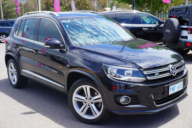 Used Volkswagen Tiguan 5N MY15 155TSI DSG 4MOTION R-Line, 2015 Volkswagen Tiguan 5N MY15 155TSI DSG 4MOTION R-Line Black 7 Speed Sports Automatic Dual Clutch