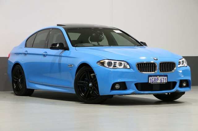 Used BMW 528i F10 MY17 M Sport, 2016 BMW 528i F10 MY17 M Sport Blue 8 Speed Automatic Sedan