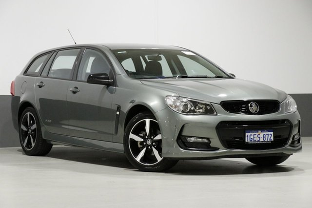Used Holden Commodore Vfii MY16 SV6 Black Edition, 2016 Holden Commodore Vfii MY16 SV6 Black Edition Grey 6 Speed Automatic Sportswagon
