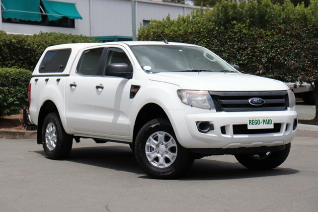 Used Ford Ranger PX XL Double Cab, 2011 Ford Ranger PX XL Double Cab Cool White 6 Speed Sports Automatic Utility