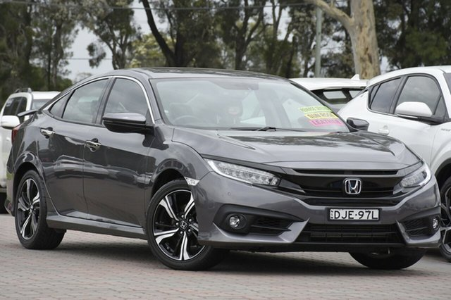 Used Honda Civic 10th Gen MY16 RS, 2016 Honda Civic 10th Gen MY16 RS Grey 1 Speed Constant Variable Sedan