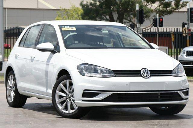 New Volkswagen Golf 7.5 MY19.5 110TSI DSG Comfortline, 2019 Volkswagen Golf 7.5 MY19.5 110TSI DSG Comfortline Pure White 7 Speed
