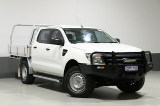 2014 Ford Ranger PX XL 3.2 (4x4) White 6 Speed Manual Dual Cab Utility.