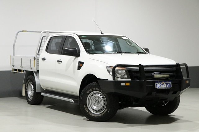 Used Ford Ranger PX XL 3.2 (4x4), 2014 Ford Ranger PX XL 3.2 (4x4) White 6 Speed Manual Dual Cab Utility