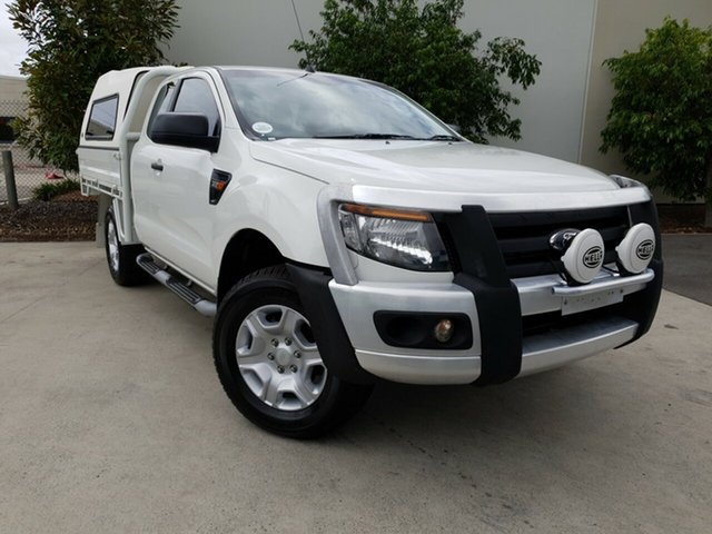 Used Ford Ranger PX XL Super Cab, 2015 Ford Ranger PX XL Super Cab White 6 Speed Manual Cab Chassis