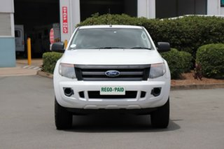 2011 Ford Ranger PX XL Double Cab Cool White 6 Speed Sports Automatic Utility.