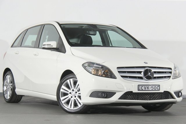 Used Mercedes-Benz B180 W246 DCT, 2014 Mercedes-Benz B180 W246 DCT White 7 Speed Sports Automatic Dual Clutch Hatchback