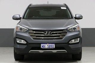 2014 Hyundai Santa Fe DM Elite CRDi (4x4) Grey 6 Speed Automatic Wagon.