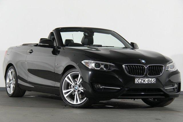 Used BMW 228i F23 Sport Line, 2015 BMW 228i F23 Sport Line Black 8 Speed Sports Automatic Convertible