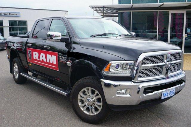 Used RAM 3500 MY18 Laramie Crew Cab Short Box, 2018 RAM 3500 MY18 Laramie Crew Cab Short Box Brilliant Black Crystal Pearl 6 Speed Automatic