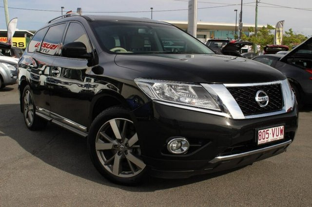 Used Nissan Pathfinder R52 MY15 Ti X-tronic 4WD, 2015 Nissan Pathfinder R52 MY15 Ti X-tronic 4WD Black 1 Speed Constant Variable Wagon