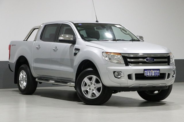 Used Ford Ranger PX XLT 3.2 HI-Rider (4x2), 2015 Ford Ranger PX XLT 3.2 HI-Rider (4x2) Silver 6 Speed Automatic Crew Cab Pickup