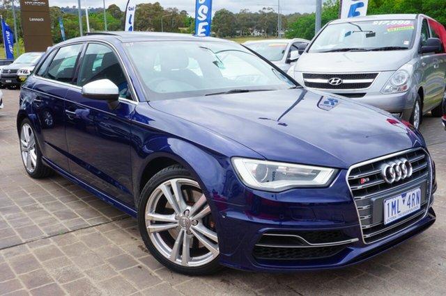 Used Audi S3 8V MY14 Sportback S tronic quattro, 2014 Audi S3 8V MY14 Sportback S tronic quattro Blue 6 Speed Sports Automatic Dual Clutch Hatchback