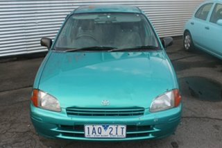 1997 Toyota Starlet Life Green Manual Hatchback.