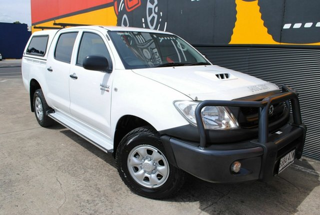 Used Toyota Hilux KUN26R MY10 SR, 2010 Toyota Hilux KUN26R MY10 SR Glacier White 5 Speed Manual Utility