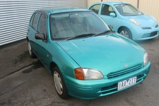 1997 Toyota Starlet Life Green Manual Hatchback.
