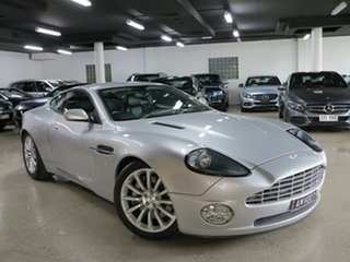 2002 Aston Martin Vanquish Silver 6 Speed Manual Auto-Clutch Coupe.