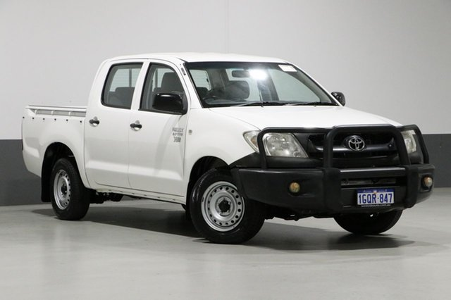 Used Toyota Hilux TGN16R MY11 Upgrade Workmate, 2010 Toyota Hilux TGN16R MY11 Upgrade Workmate White 4 Speed Automatic Dual Cab Pick-up