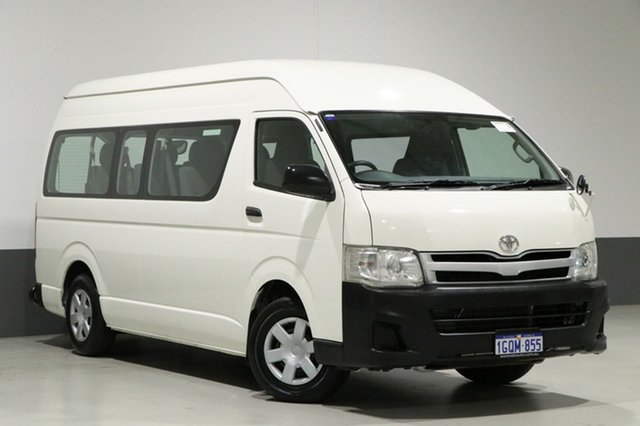 Used Toyota Hiace KDH223R MY11 Upgrade Commuter, 2011 Toyota Hiace KDH223R MY11 Upgrade Commuter White 4 Speed Automatic Bus