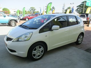 2008 Honda Jazz GE MY09 GLi White 5 Speed Automatic Hatchback.