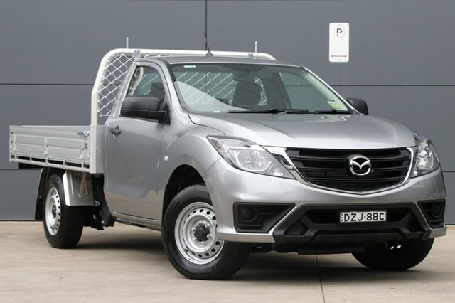 Demo Mazda BT-50 UR0YE1 XT 4x2, 2018 Mazda BT-50 UR0YE1 XT 4x2 Aluminium 6 Speed Manual Cab Chassis