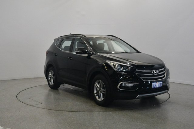 Used Hyundai Santa Fe DM3 MY17 Active, 2017 Hyundai Santa Fe DM3 MY17 Active Phantom Black 6 Speed Sports Automatic Wagon