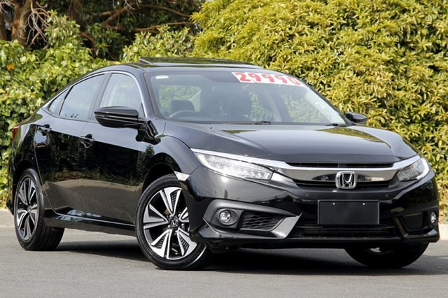 Used Honda Civic 10th Gen MY17 VTI-LX, 2017 Honda Civic 10th Gen MY17 VTI-LX Crystal Black 1 Speed Constant Variable Sedan