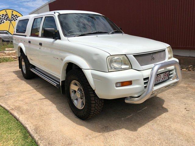Used Mitsubishi Triton MK MY05 GLS Double Cab, 2005 Mitsubishi Triton MK MY05 GLS Double Cab White 5 Speed Manual Utility